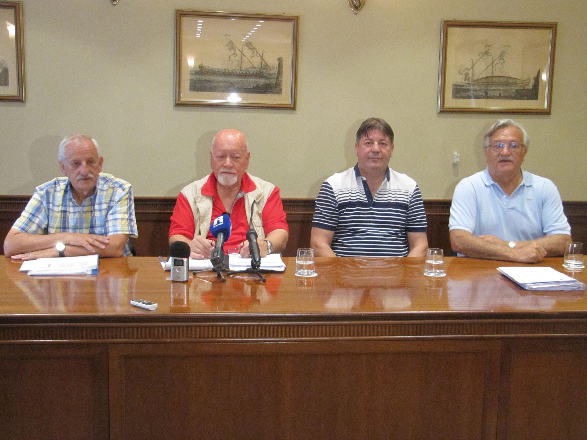 Igor Eškinja, Mladen Črnjar, Zdenko Šantić i Vladimir Vujnović (snimio M.Krpan)